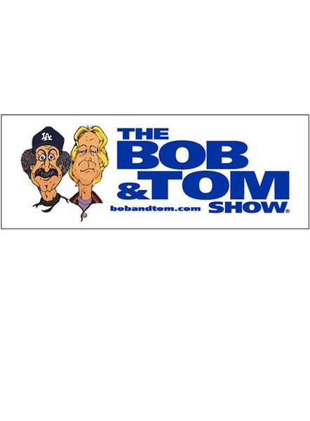 Bob & Tom Show Caricatures Bumper Sticker