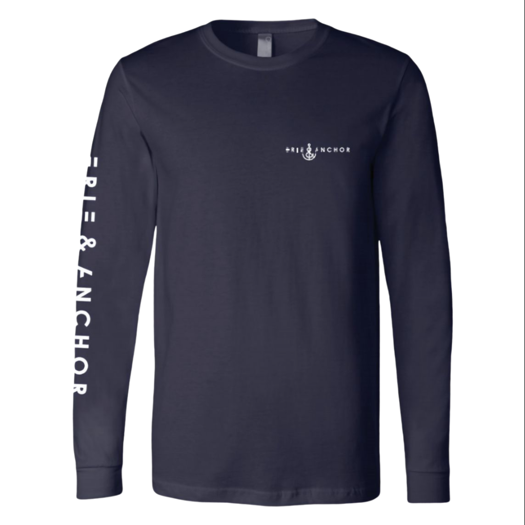 Signature Anchor Long Sleeve Tee-Navy