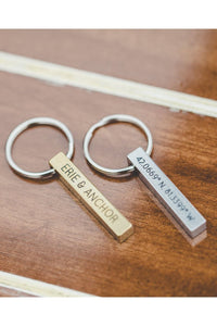 Coordinates Keychain - Erie and Anchor