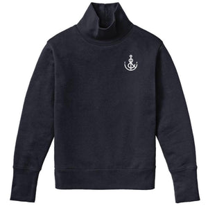 Navy Women's Anchor Turtleneck