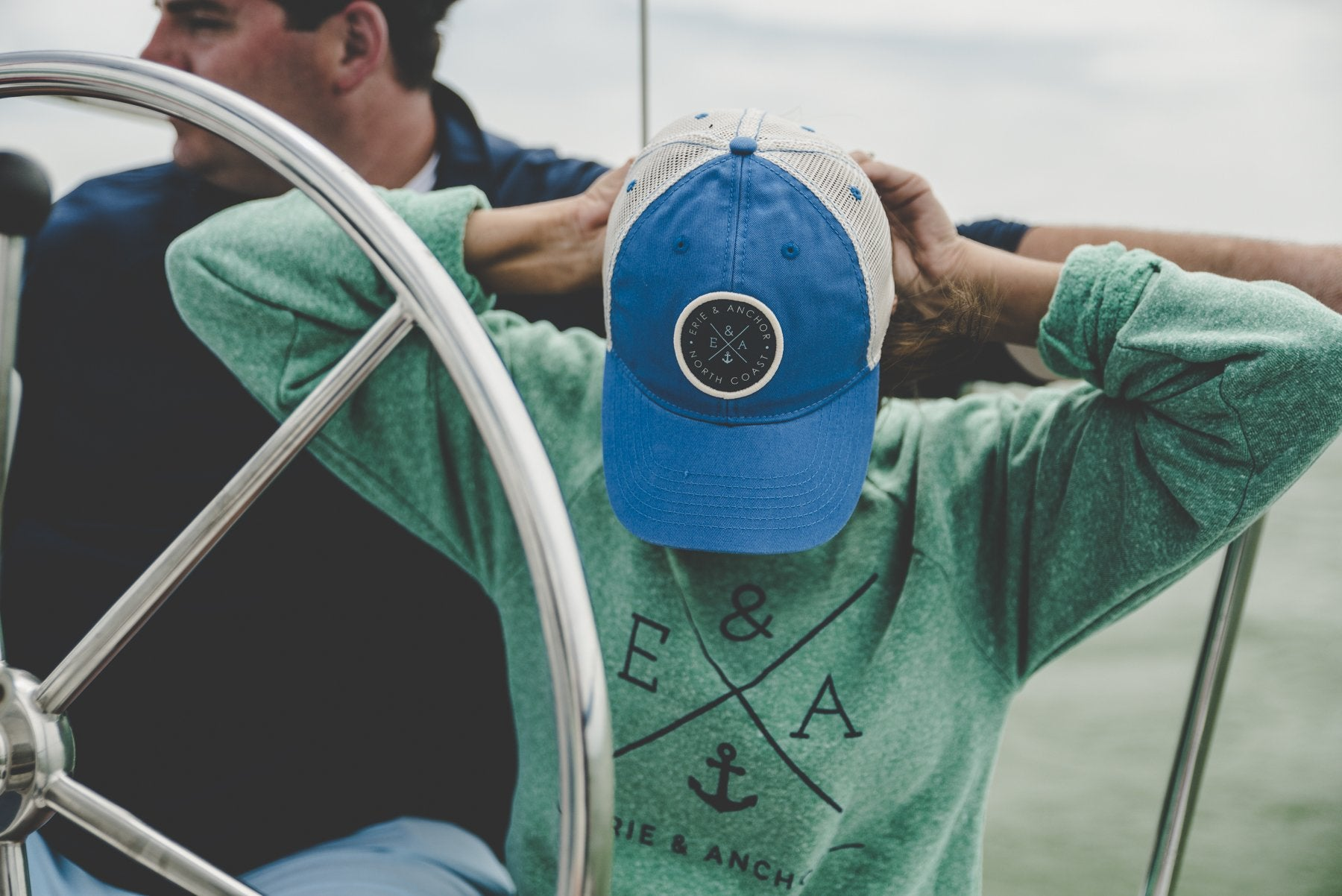 Relaxed Twill Trucker Hat-Royal Blue