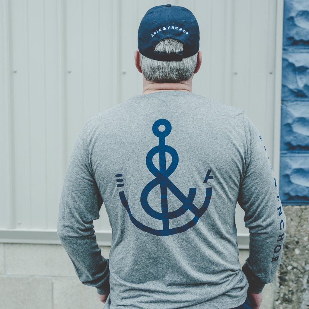 Signature Anchor Long Sleeve Tee-Gray