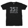 35th and Shields black pinwheel tshirt | Bandwagon Champs