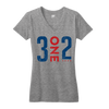 3 One 2 Chicago tshirt 312 womens gray | Bandwagon Champs