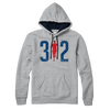312 Chicago race hoodie Chitown marathon sweatshirt mens gray Bandwagon Champs