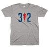 312 Chicago Marathon running man shirt Bandwagon Champs