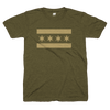 Chicago Flag army green shirt | Bandwagon Champs