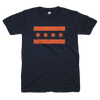 Chicago Flag blue and orange tshirt | Bandwagon Champs