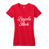 Lincoln Park Chicago the Chi neighborhood women's shirt red Chitown Clothing Bandwagon Champs