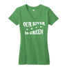 Our River Is Green womens St. Patricks Day Chicago Chi-rish t shirt women's Bandwagon Champs