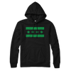 Chicago Flag lightweight hoodie black and green | Bandwagon Champs