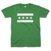Chicago Flag t green and white | Chi-rish shirt | Bandwagon Champs