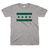 Chicago Flag go green tee Bandwagon Champs