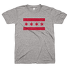 Chicago Flag t shirt gray and red | Bandwagon Champs