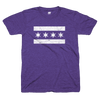 Chicago Flag tee purple and white | Bandwagon Champs