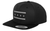 Chicago Flag Snapback Hat - Black and Gray