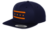 Chicago Flag Snapback Hat - Blue and Orange
