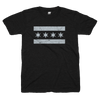 Chicago Flag shirt black and gray | Bandwagon Champs