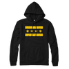 Chicago Flag lightweight hoodie black and yellow | Bandwagon Champs