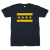Chicago Flag teeshirt navy blue and yellow | Bandwagon Champs