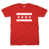 Chicago Flag v neck tee women's red and white | Bandwagon Champs