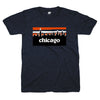 Chicago skyline blue and orange shirt | Bandwagon Champs