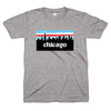 Chicago skyline Chicago Flag gray shirt | Bandwagon Champs