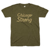 Chicago Strong army green tee | Bandwagon Champs