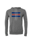 Chicago Flag Lightweight Hoodie Gray, Blue and Red