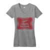 Logan Square Chicago neighborhood womens vneck tee | Bandwagon Champs
