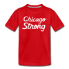 Chicago Strong red kids youth shirt | Bandwagon Champs