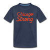 Chicago Strong navy and orange kids youth shirt | Bandwagon Champs