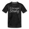 Chicago Strong Chicago black and gray kids youth shirt | Bandwagon Champs