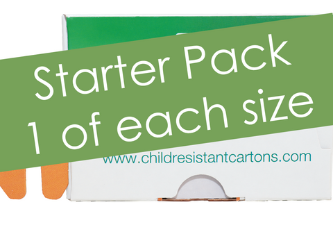 Starter Pack, 1 box x 3 sizes: inch 2.80x0.83x3.98, 2.93x1.04x3.68 and 3.52x0.86x6.35