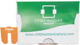 Custom printed Child Resistant folding boxes, 5000 pieces, inch 2.80x0.83x3.98