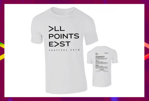 All Points East White Event T-Shirt