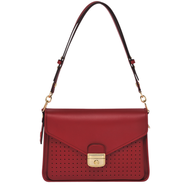 Mademoiselle Longchamp Besace M Granate - Luxury Avenue Boutique