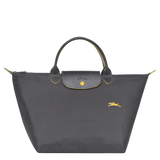 Le Pliage Club Bolso de Mano M Plomo - Luxury Avenue Boutique