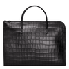 Croco Block Portadocumentos Negro - Luxury Avenue Boutique