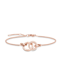 Pulsera de together forever de oro rosa