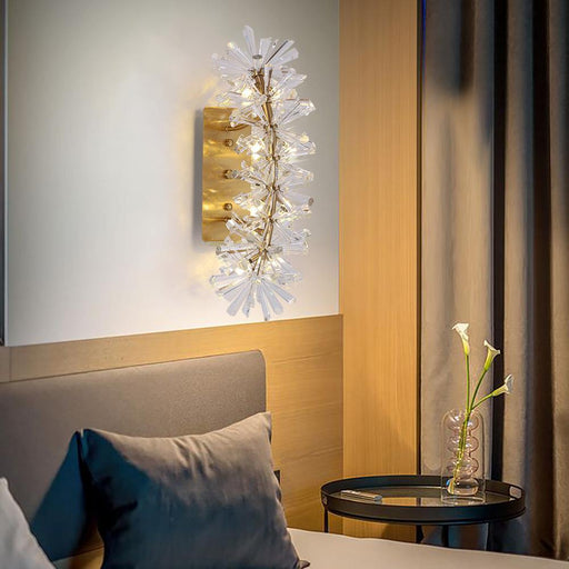 Mira Clear Crystal Wall Sconce - Morsale.com