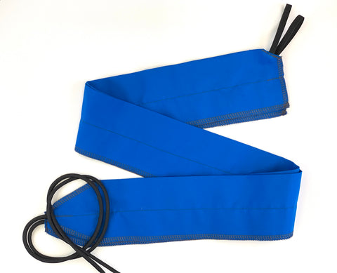 Blue/Gray Solid lightweight wrist wraps