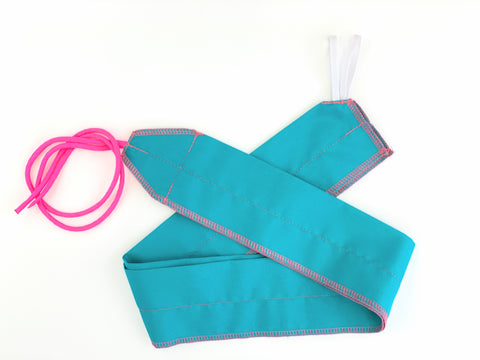 Teal/Pink Solid lightweight wrist wraps