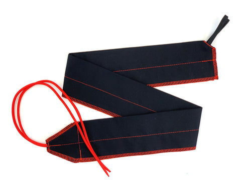Black/Red Solid lightweight wrist wraps