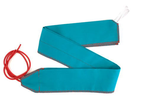 Teal/Red Solid lightweight wrist wraps