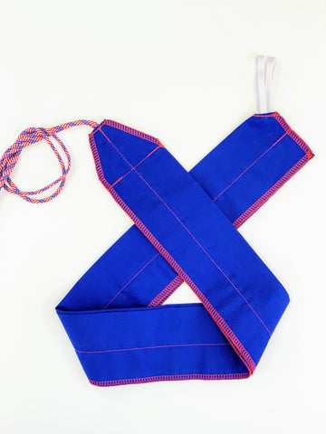 Blue/Red Solid lightweight wrist wraps