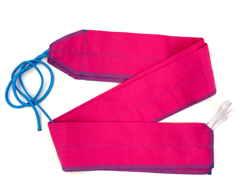 Pink/Sky Blue Solid lightweight wrist wraps