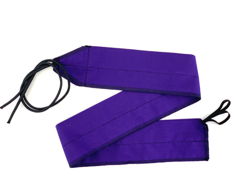Purple/Black Solid lightweight wrist wraps