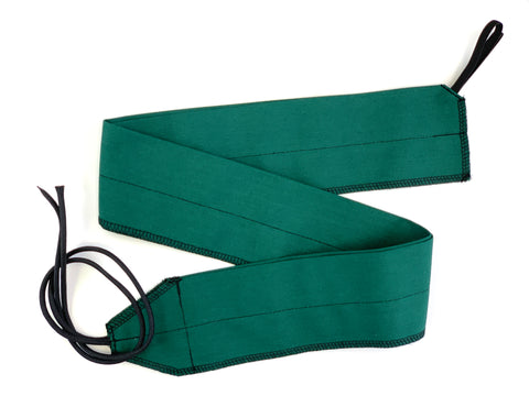 Forest Green/Black Solid lightweight wrist wraps