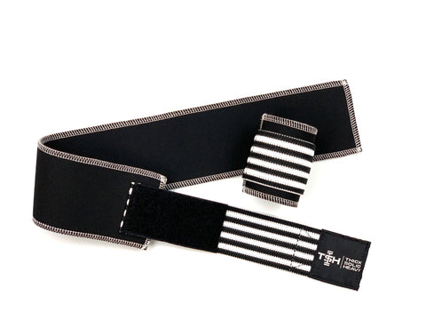 Black and White Striped Neoprene Wraps